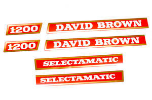 Decals David Brown 1200